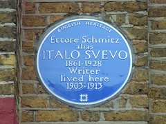 Photo of Ettore Schmitz and Italo Svevo blue plaque