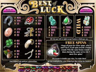 free Best of Luck slot mini symbols