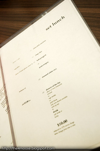 Candlenut Kitchen - Lunch Menu