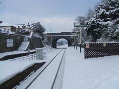 Ulverston Railway Station (Bennydorm) Tags: uk bridge winter england snow december transport lakedistrict railway railwaystation trainstation cumbria ulverston furness fujifilmfinepix