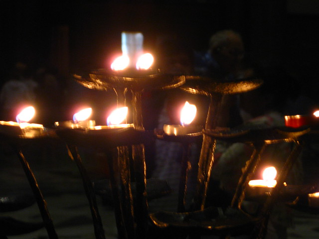 フィレンツェの蝋燭のフリー写真素材