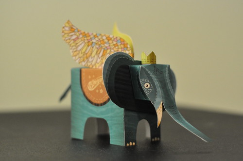 grey elephant cutout