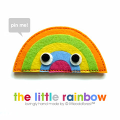 because rainbows make us smile (my little odd forest) Tags: face design rainbow colorful pin handmade brooch felt badge forestprints littleoddforest