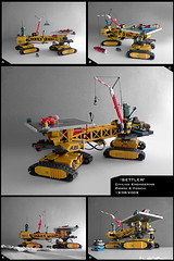 'SETTLER' Mobile Monorail Station (Pierre E Fieschi) Tags: industry station mobile lego pierre platform equipment micro monorail logistics tracked moc microspace terraforming fieschi microscale microspacetopi