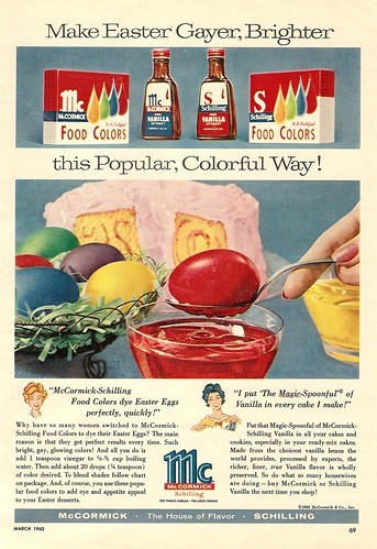 1960 mccormick spices schilling food colors vanilla easter ad by CapricornOneVintage