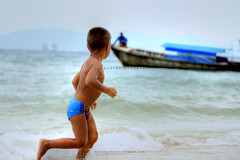 Freedom (Shahriar Xplores...) Tags: blue sea vacation sky baby seascape water beautiful canon relax landscape thailand island boat fishing sand tour open phiphi image country wide wave running thai dhaka phuket sell bangladesh phiphiisland gettyimages aisa 550d totallythailand canon550d requesttolicense shahriarphotography