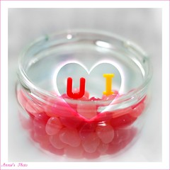 "♥ If I could rearrange the alphabet, I'd put  ""U""  and  ""I""  together ♥"