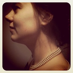 Lady with pearls...