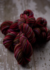 'Godiva and berries' on Kind alpaca Merino Silk!