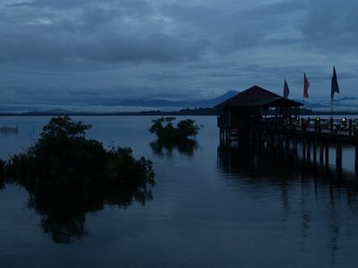 Bukit Merah jetty at dusk