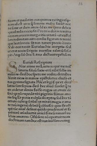 Marginal correction in Pius II: De duobus amantibus Euryalo et Lucretia