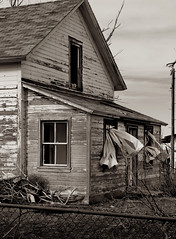 House in Faust (arbyreed) Tags: old blackandwhite bw black abandoned sepia town utah decay ghost haunted forgotten ghosttown toned sepiatone hauntedhouse ponyexpressstation arbyreed railroadghosttown whitefaustutahfaust