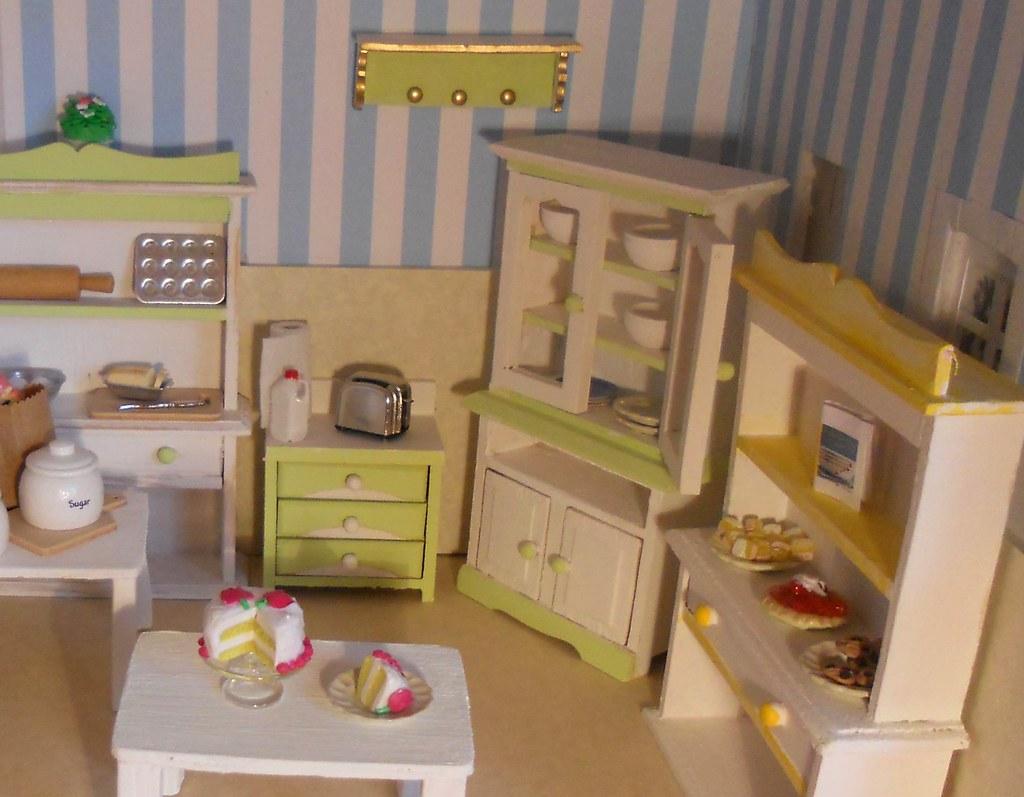 Polymer Clay Desserts in my Miniature Kitchen * Spring 2011