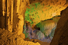 Cave lights, shadows and shapes (seafaringwoman) Tags: asia seasia unescoworldheritagesite vietnam cave halongbay hangsungsot