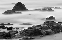 Experimenting with long exposure (Elizabeth Haslam) Tags: ocean california longexposure sky seascape water rocks earth highway1 sansimeon centralcoast cambria neutraldensityfilter nd110 elizabethhaslam