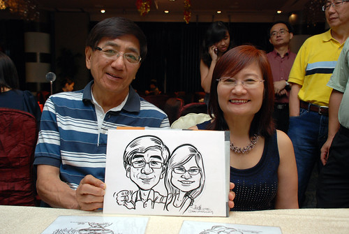 caricature live sketching for OCBC Securities - 5