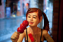 Tomato (macabrephotographer) Tags: china park street girls food woman art girl face statue night tomato lens fun roc lights fantastic lowlight nikon colorful day bokeh candid fair taipei nikkor lenses taiwna d700