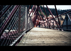 On the other side (Quicksil7er) Tags: wood bridge france girl metal composition vanishingpoint other construction lyon bokeh song side perspective redhotchilipeppers lowperspective quicksil7er