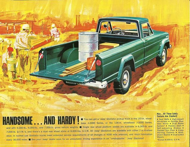 auto truck ads advertising jeep pickup brochure gladiator 1965 j2000 j3000