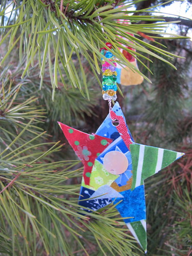 Our collage ornaments #9