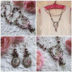 *** Dream On *** (mi-nuxa) Tags: pink primavera birds vintage necklace spring fdsflickrtoys handmade pearls earrings brincos dreamon 2011 prolas exclusivo vintagelove
