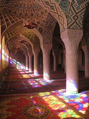 Light streaming through (devinshire) Tags: travel october iran shiraz 2009 mosques nasirolmolk