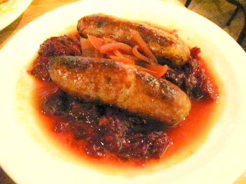 Wild boar and apple sausages with beetroot mash @Mason & Taylor