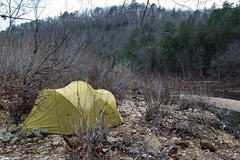 Camping by the North Fork River - Devils Backbone Wilderness