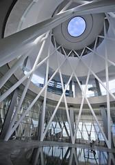 """Rain Oculus"" at B1 – ArtScience Museum (williamcho) Tags: sky tourism pool museum architecture modern landscape hotel singapore fb malls science casino trendy attraction topaz d300 marinabay marinabaysands astoundingimage williamcho artsciencemuseum rainoculus"