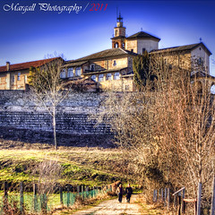 Sanctuary of Angels - HDR - Cuneo - Italy - Meyer Optik 50mm f1,8 M42 (Margall photography) Tags: park people italy parco church canon river walking landscape photography 50mm italia walk angels m42 marco f18 cuneo hdr sanctuary meyer degli 30d santuario angeli optik galletto margall fluviale mygearandme