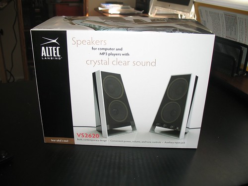 Altec Lansing VS2620 speakers (the box)