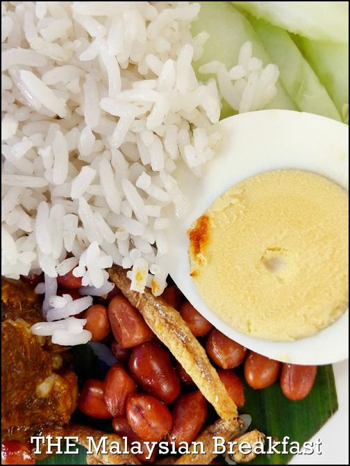 Nasi Lemak Malaysian Breakfast