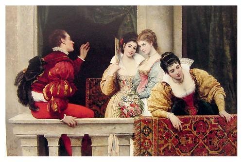 019-Coqueteando en el balcon-Eugene de Blaas 1877