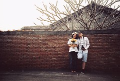 *couple (fangchun15) Tags: love film lomo lca xpro friend couple kodak crossprocess toycamera taiwan happiness explore kaohsiung zenit 高雄 elitechrome 台湾 prewedding eb3 左營 眷村 クロスプロセス 自助新村 眷村裡迷路