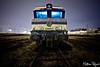 Cimetière des locomotives (Matthieu Pegard) Tags: night train gare flash rouen locomotive exploration nuit urbex cimetière sotteville gélatine