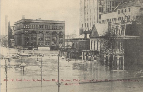 Fourth Street East, Dayton, OH - 1913 Flood
