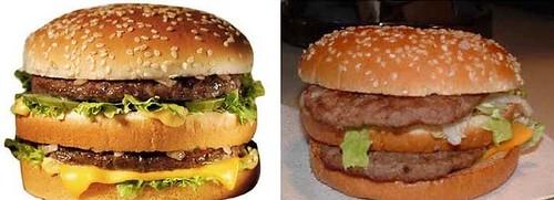 Comparando sanduíches