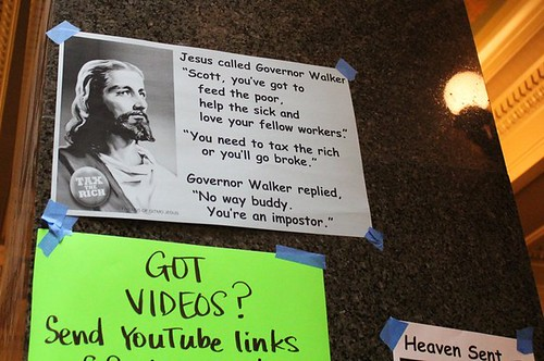 Jesus called Governor Walker