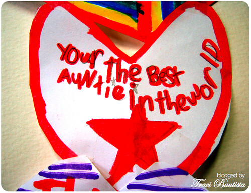 a valentine from my niece cali <3