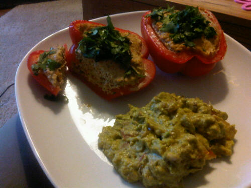 Chicken stuffed peppers 1