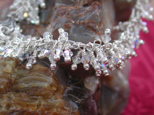 aurora borealis swarovski crystal bracelet