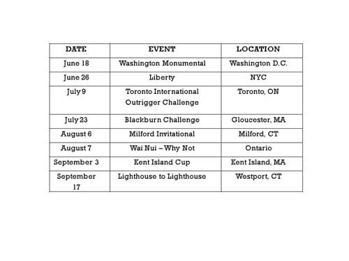 2011 Race Schedule