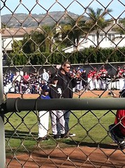 We had @nbclosangeles Fred Roggin with his nephews at Northridge Little League opening day