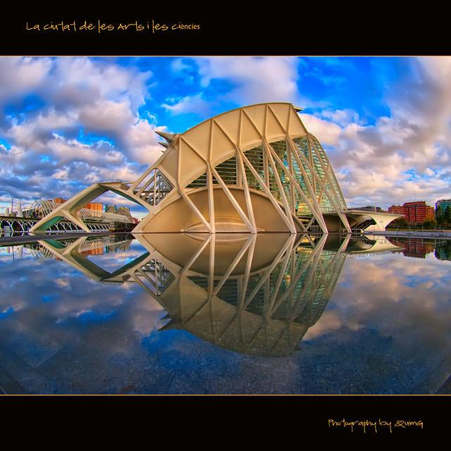 La Ciutat de les Arts (Fisheye world)