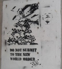 NWO Stencil (TheBrainDead) Tags: world street new color art beautiful dead photography graffiti high amazing cool nice interesting stencil flickr order good quality awesome politics nwo free minneapolis brain most neat obama bdc the braindead flickrs thebraindead