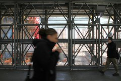 World Trade Center pedestrian bridge 3 (organicthink) Tags: city bridge newyork manhattan worldtradecenter streetphotography photowalk pedestrianwalkway