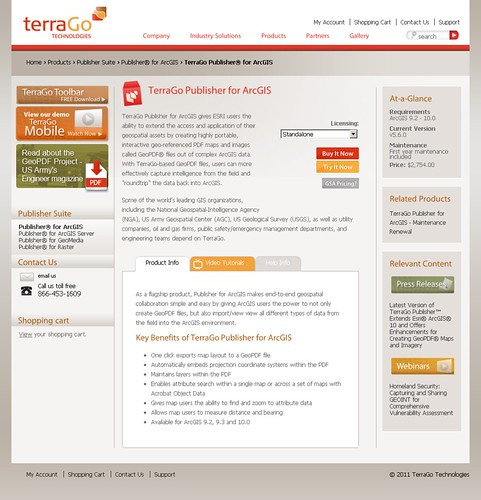 TerraGo Publisher for ArcGIS | TerraGo Technologies