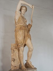 Wounded Amazon Roman copy of Greek original by Phidias with head a replica from Polykleitos from 440-430 BCE Marble (mharrsch) Tags: italy sculpture woman rome statue female greek amazon roman bow warrior archer capitolinemuseum 5thcenturybce polykleitos phidias mharrsch