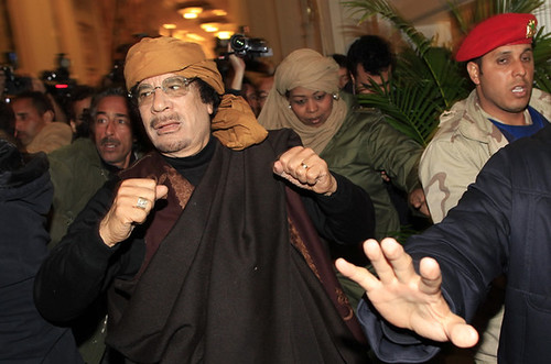Libyan leader Muammar Gaddafi addressed the country on national television where he charged the western imperialist states of backing the rebels that are trying to destroy the unity and sovereingty of this oil-rich North African state. by Pan-African News Wire File Photos