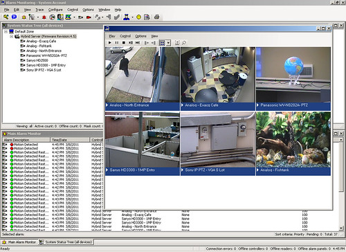 Lenel Onguard integration with exacqVision - Alarm Monitoring screen
